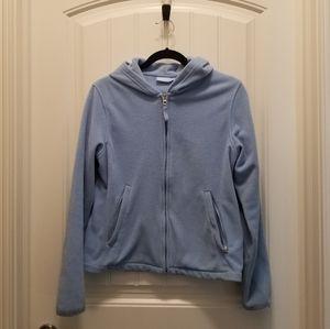 Denver Hayes light blue zip up hoodie